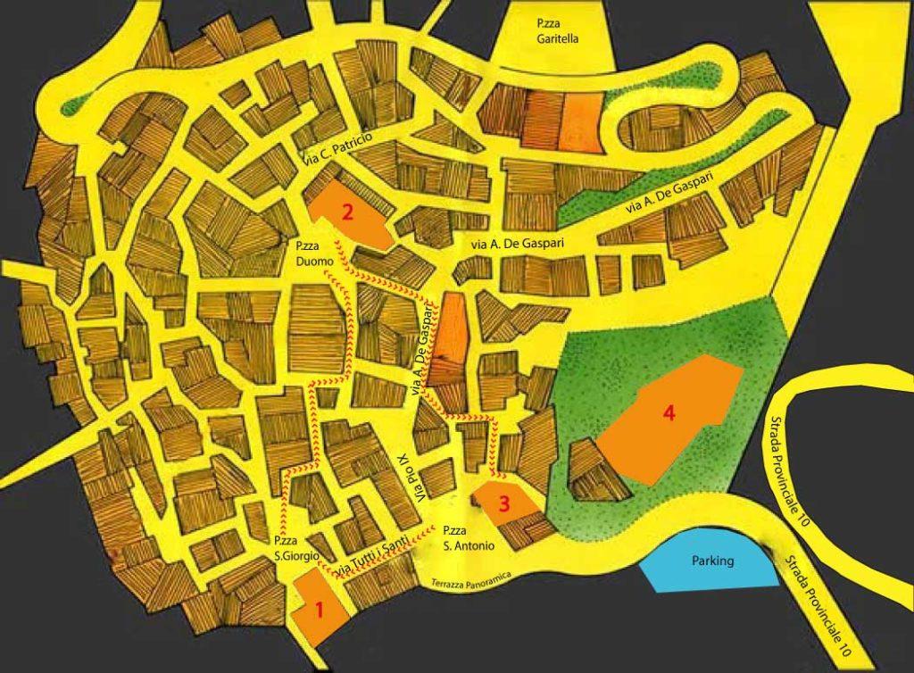 castelmola mappa paese