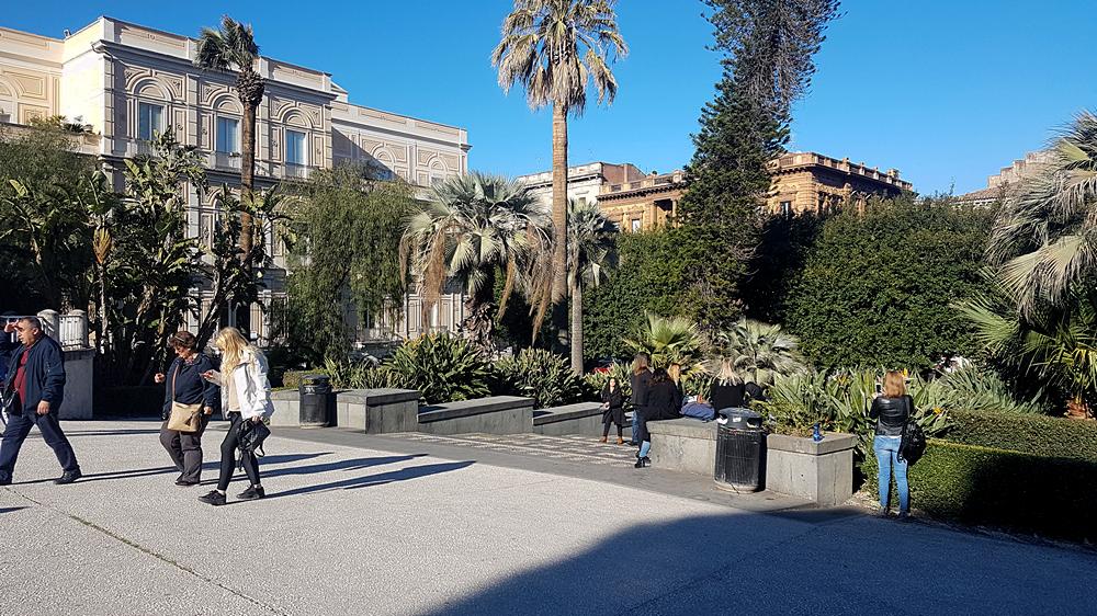 villa bellini pubblic garden in catania