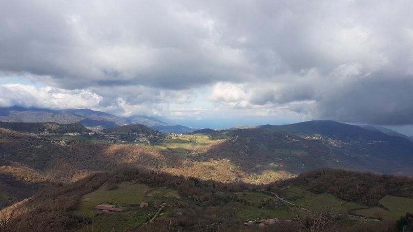 tirreno sea far from village