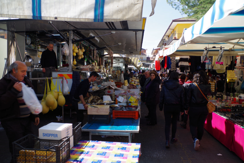 Sunday market in randazzo