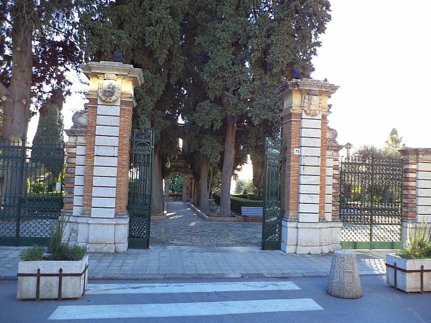 via bagnoli croce entrance to public garden in taormina